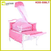 Hot venda Europa padrão azul rosa marrom multifunções berço cama