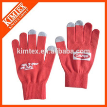 Acrylic knitted customize smart texting touch screen gloves