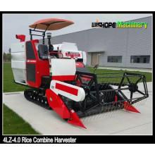 Uso de máquinas debulhadoras para arroz e trigo