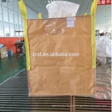 el bolso grande jumbo revestido puede a prueba de humedad, plástico tejido del saco de los pp el cemento de 1 tonelada en bolso grande del fibc del bolso grande usado