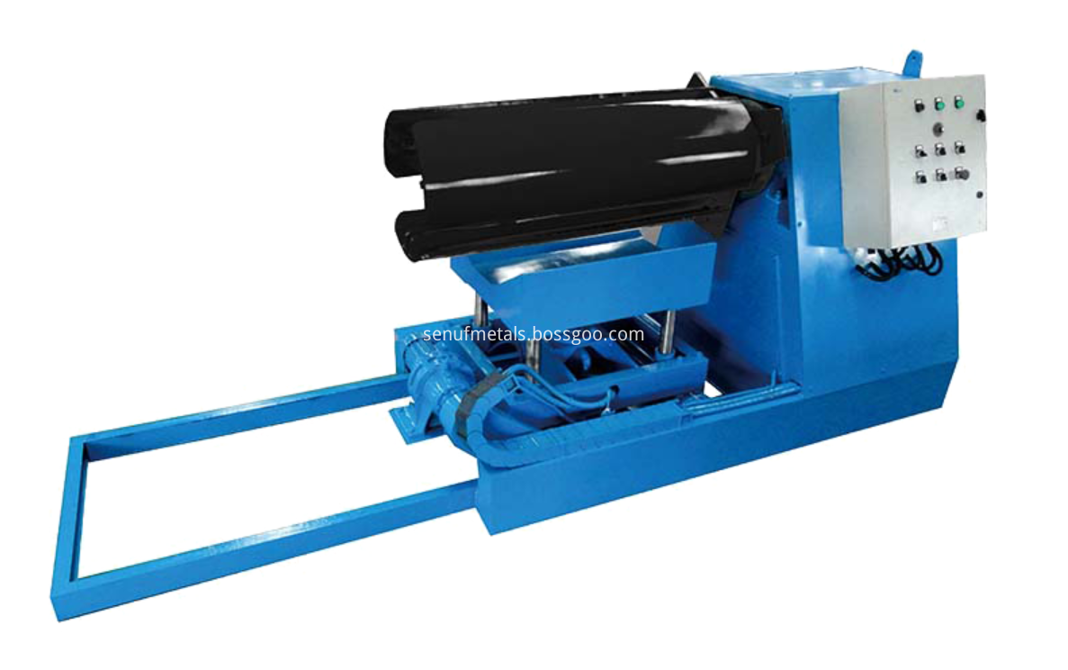 5 tons hydraulic decoiler with trolley