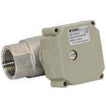 NSF 2 voies 1 pouce Valve à bille électrique en acier inoxydable Vanne à bille à eau à débit motorisé avec fonctionnement manuel (T25-S2-C)