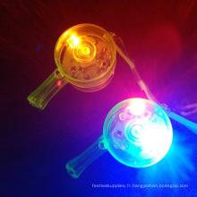plastique clignotant colliers de lanière de sifflets LED clignotants