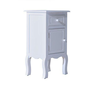 WHITE WOODEN BEDSIDE TABLE NIGHTSTAND TABLES,BEDROOM TABLE FURNITURE