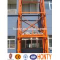 Guide rail hydraulic drywall lift