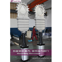 Bonnect Bolted Knife Gate Valve com V Tipo Delfection Cone
