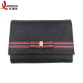 Designer Black Money Clip Card Brieftasche Clutch Bag