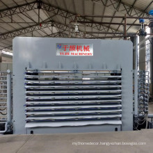Cheap price 10 layers 800T Melamine Hot Press Machine For Plywood from YUJIE factory