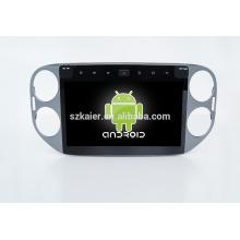 10.1 '', fábrica directamente Quad core android para reproductor de DVD de coche, GPS, OBD, SWC, wifi / 3g / 4g, BT, enlace espejo para VW Touran