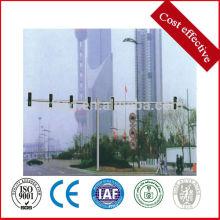 Двухполюсные столбы светофора, оцинкованный стальной знак
