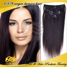 2014 neue Ankunft Großhandel Haar Fabrik Günstigen Preis 100% Remy Human Clip In Haarverlängerung