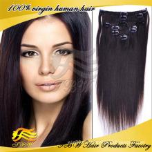 2014 Новое Прибытие Оптовая Волос Завода Дешевые Цена 100% Человеческих Реми Клип В Наращивание Волос