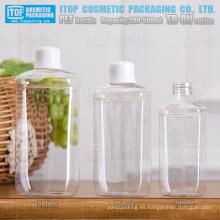 Serie TB-DV 200ml 350ml y 500ml agradable amplia aplicación innovadora rectángulo redondeado soplar botellas de pet para la venta