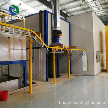 Industri Otomatis Aluminium Electrostatic Powder Coating