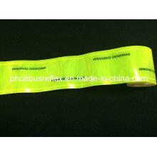 Fita refletida impressa logotipo do PVC da largura de 5cm