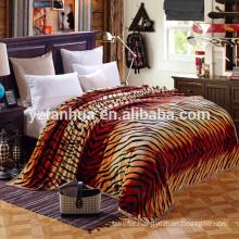 2015 Customized Tiger Skin Pattern Polar raschel Blankets For Sale