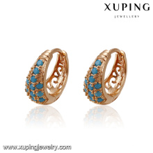 93402 xuping latest fashion hoop copper alloy earring for girls in China wholesale