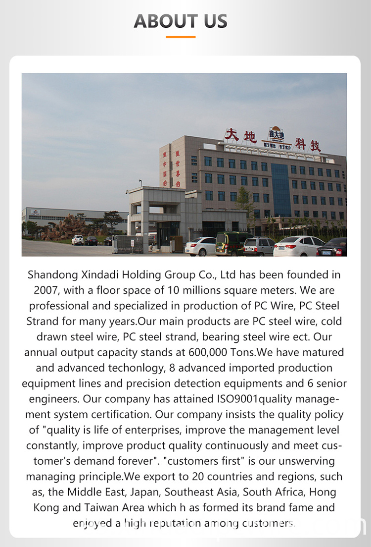 Indented wire factory