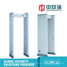 Super Sensitivity 6/12/18 Zones Metal Detector Gate para situação de alto nível