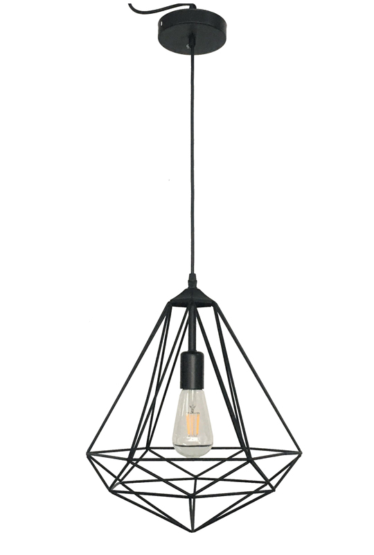 Geometric Lamp Off Black