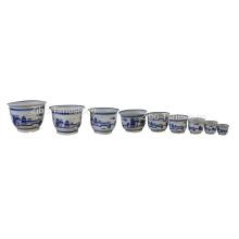 Ceramic Flower Pot - Chinese Pattern (23611)