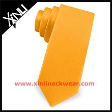 2013 neue Großhandel dünne Krawatten Orange Tie
