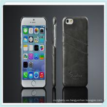 para el estuche rígido de cuero de la piel posterior de la piel de lujo iPhone 6s