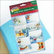 Preço de fábrica etiqueta personalizada etiqueta impressa glitter, impressão de adesivo