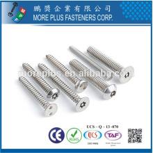Taiwan Acier au carbone haute qualité en acier inoxydable Nickel plaqué Galvanisé M3 Torx Drive Sécurité Vis