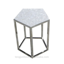 CANOSA Chinese seashell with stainless steel pentagon tea table