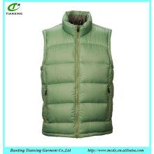 Hot venda popular moda algodão sem mangas jaqueta homens