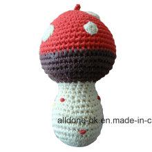 Eco Friendly Hand Crochet Cute Rattle Toy  Amigurumi Mushroom