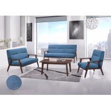 Set de sofá de madera, sofá con mesa de café