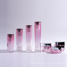 Hot Sale Acrylic Cylinder Airless Bottles with Jars Collection
