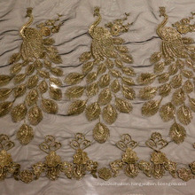 Embroideried Fashion Mesh Fabric for Ladies Garment