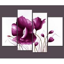 Pintura a óleo moderna da flor da lona
