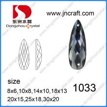 Pujiang Factory Flat Back Decorative Drop Glass Stone for Garment