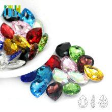 Best Selling Pointback Pear Crystal Fancy Stone Drop Shape Design for DIY Making C4320