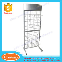 free standing hanging product metal wire grid mesh wall panel display racks stand