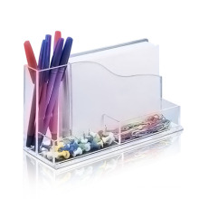 Transparent Lucite Organizer for Office Application, Retail Acrylic Counter Box