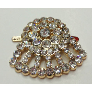 Unique Design Shoe Clips with Rhinestone Embellished