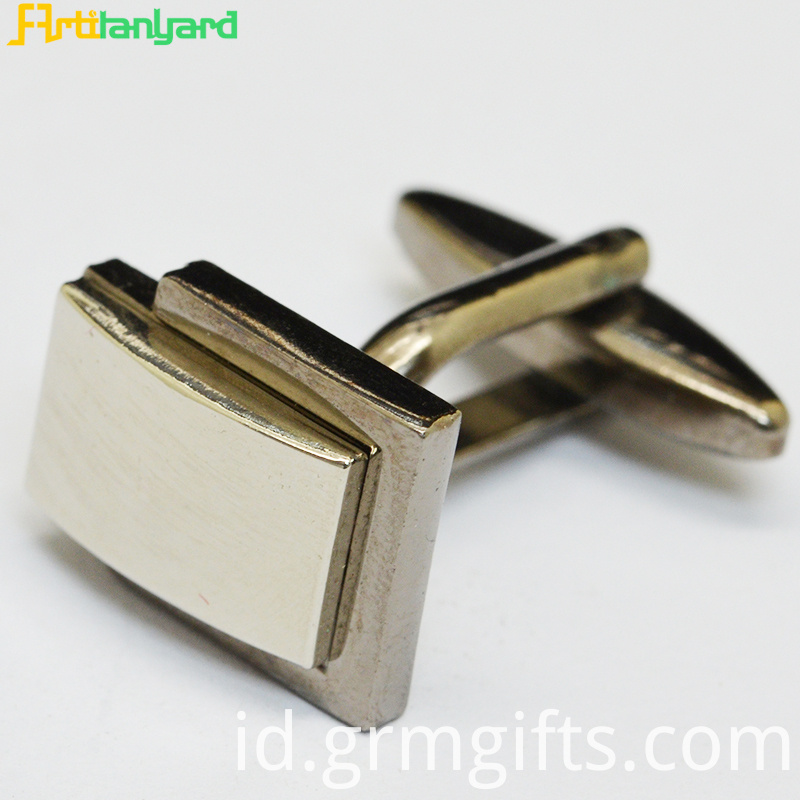 Gold Cufflink With Logo