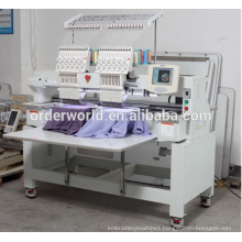 2 head computerized embroidery machine price for t-shirt