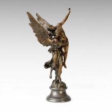 Mythology Statue Angle Lovers Bronze Sculpture TPE-055