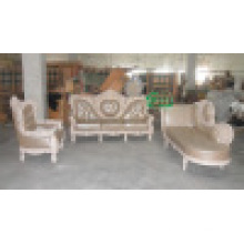 Wooden Leather Sofa for Living Room Furniture (YF-D986)