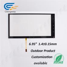 "6,95 ""4 Draht Glas Film Pet Analog Resistive Touch Panel"