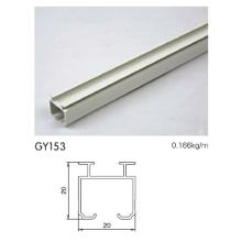 Aluminium Schienenprofil mit pulverbeschichtetem Weiß