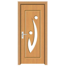 PVC door with glass