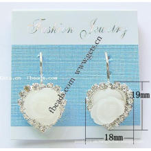 Gets.com Rhinestone Sterling Silber Blumenstulpe Armband