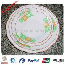 Plateau décoratif de porcelaine / plaque de souvenir en porcelaine